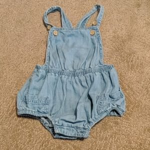 Adorable chambray romper